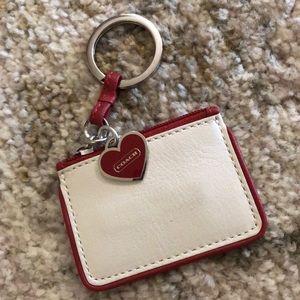 Coach mini pouch key chain / bag charm